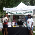 CQ from CQ Educates, LLC and Kamili from Doggie Empire supporting the Middleburg Humane Foundation