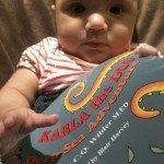 Never to early to begin reading. Baby Xavia is ready to excel!