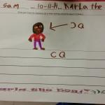 Sam drew her favorite character, CQ.