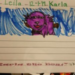Leila loved looking at Karla in the books and she was her favorite character.