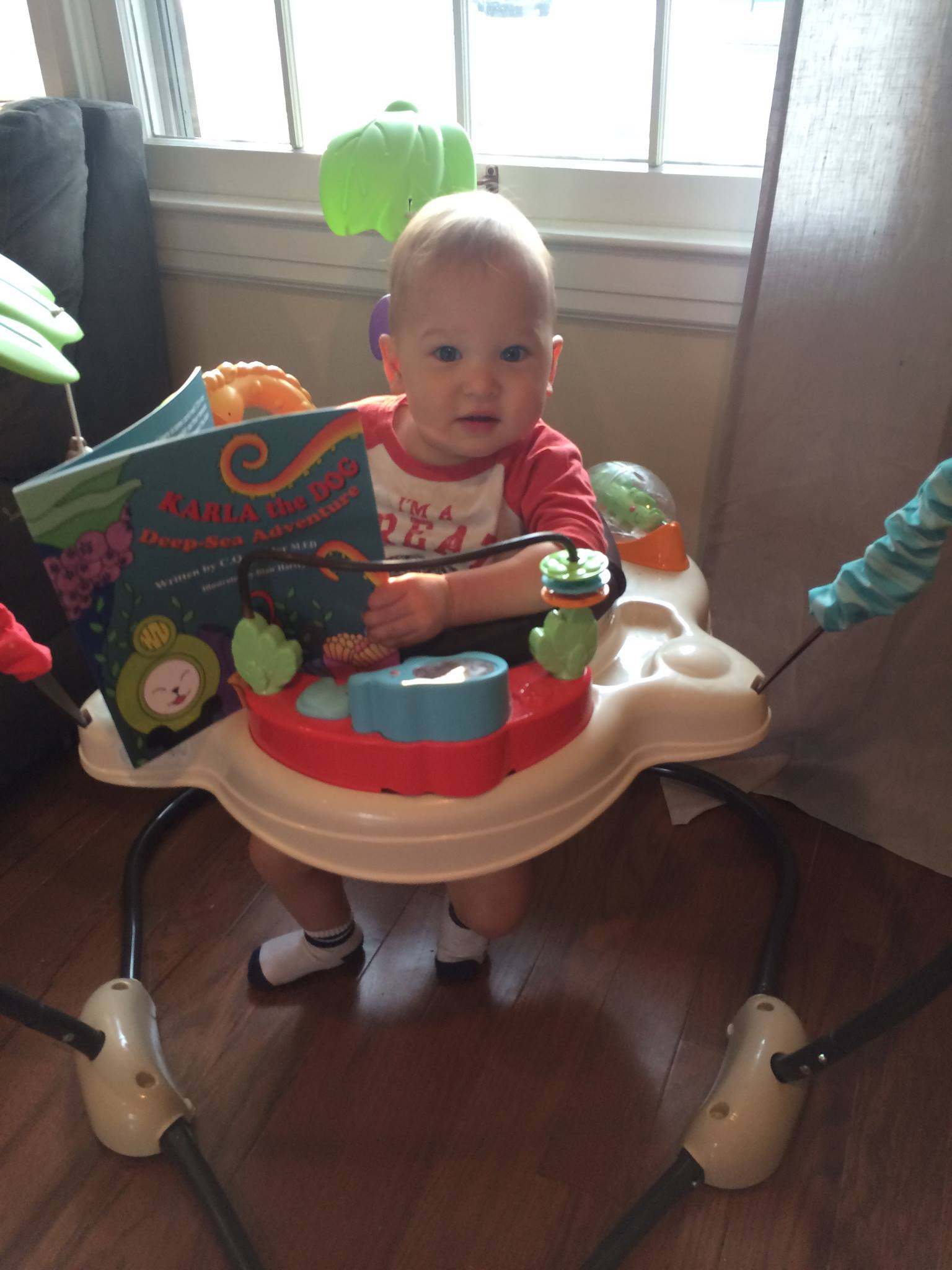 Levi loves Karla...never too young to read!